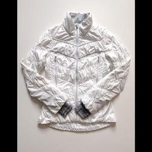 Rare Lululemon White Outward Bound Jacket Sz 4